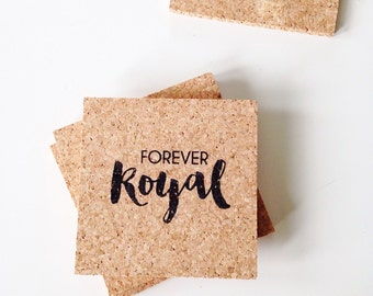 Kansas City Royals Coasters - Forever Royal Decor - Fathers Day Gift - KCMO Baseball Decor - KC Royals Coasters