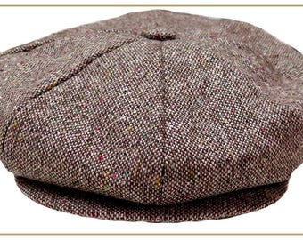 Men's Tweed 8 Panel Newsboy Cap