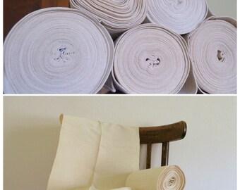 SALE Vintage Upholstery Linen, Hand Loomed Vintage  Fabric, Handwoven Hemp Table Runner by Meter, Vintage Romanian Hemp Table Linen Rolls