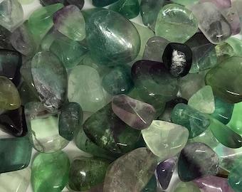 Flourite Crystal Tumblestone, Flourite Crystal, Flourite Stone, Flourite Gemstone, Flourite Crystals