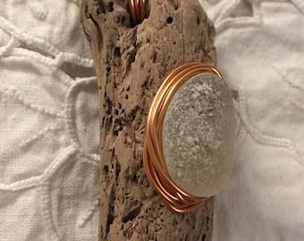 Driftwood & Sea Glass Keyring