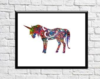 Unicorn Art Unicorn Nursery Unicorn Print Unicorn Prints Unicorn wall art Unicorn Nursery Decor - No 253