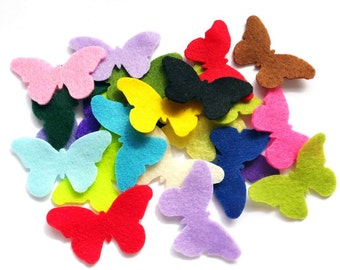 Felt Butterfly I, Pick your colors, Die Cut Craft Embellishments, Colorful butterflies,  felt supplies, felt for crafts, felt, diy supplies