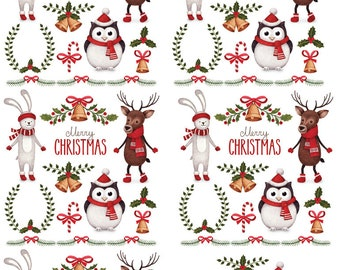Christmas Tinsel Town - Ceramic Decals- Enamel Decal - Fusible Decal - Glass Fusing Decal ~ Waterslide Decal - 74155