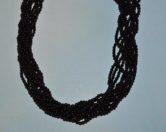 AA Grade Natural 2mm Black Onyx round Beads,- (2014050)