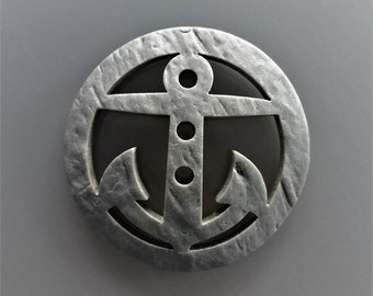 Button anchor 4.8 cm grey plastic