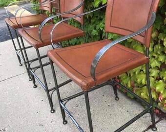 leather / metal vintage highend barstools