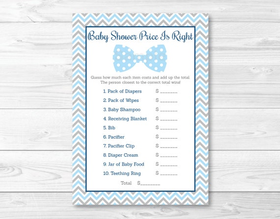 Lovely Bow Tie Price Is Right Baby Shower Game / Bow Tie Baby Shower