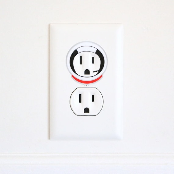 apollo astronaut electric outlet wall art sticker