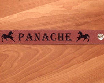 Personalized Engraved Leatherette Bracelet - Horse  Designs 7