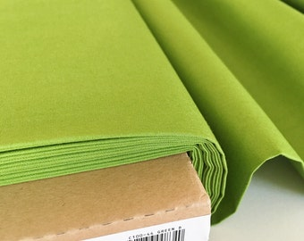 Solid Green Fabric - Riley Blake - Green Solid Cotton Fabric By The 1/2 Yard