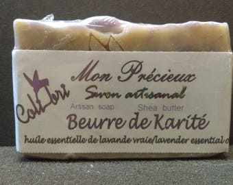 SOAP in the (50%) Shea butter scented with lavender essential oil, vegan