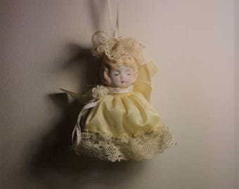 Antique French Porcelain Doll Ornament