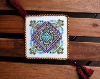 Christmas Cross Stitch Instant Download PDF Pattern Garden of Joy Holidays Counted Embroidery Geometric Mini Mandala X Stitch Ornament DIY