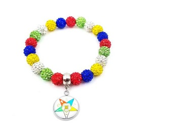 Order of The Eastern Star Rhinestone Bracelet Jewelry