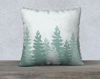 Green Trees Pillow Covers