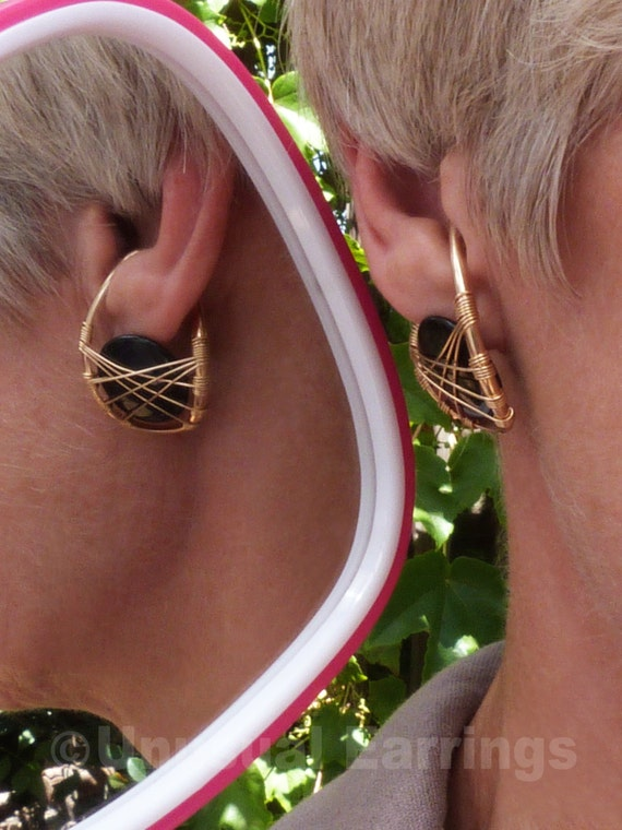 gold filled unpierced earrings non pierced ear cuff gold filled unpierced earrings non pierced earrings black 4027