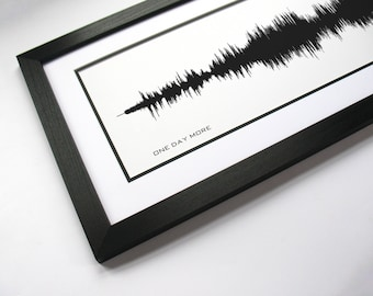 One Day More: Sound Wave Print, Musical Sound Portrait created from original cast recording