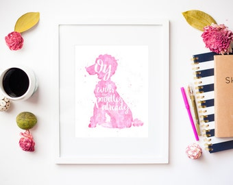 Oy with the Poodles Already Watercolor Print