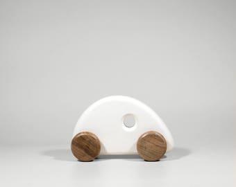 Little racer wooden car toy