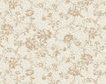 Classic Beauty Cream Floral Print-Quilt Gate-BTY