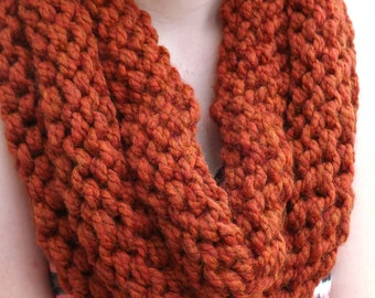 Chunky Knit Cowl - layered cowl - winter accessory - fall accessory - Chunky infinity cowl - wool cowl - warm winter cowl