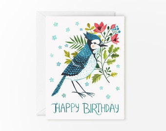 Blue Jay birthday card