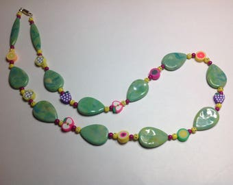 GREEN FRUIT NECKLACE
