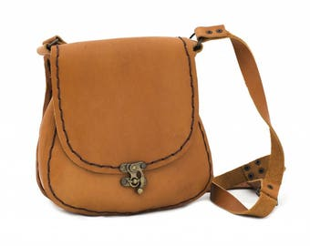 Agatha 1029: Women Classic Leather Shoulder Bag