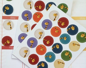 Planner Stickers 40 Giraffe Stickers Day Planner Stickers  Perfect Fits The Erin Condren Planner Or Any Personal Planner