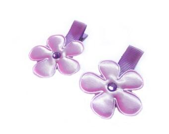 CLEARANCE Light Purple Flower Hair Clips Purple Hair Clips Purple Barrettes Baby Girl Hair Clips Lavender Baby Hair Clips Baby Clips Sale