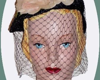 1940's Navy straw weave Hat 108