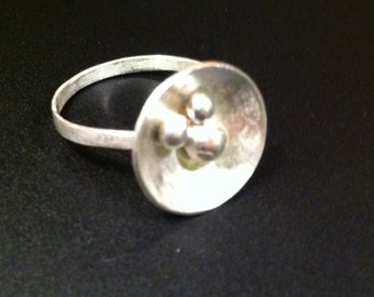 Handmade Sterling Silver Bowl Ring   - MADE TO ORDER