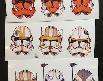 Clone Helmets sticker set (3 variants)