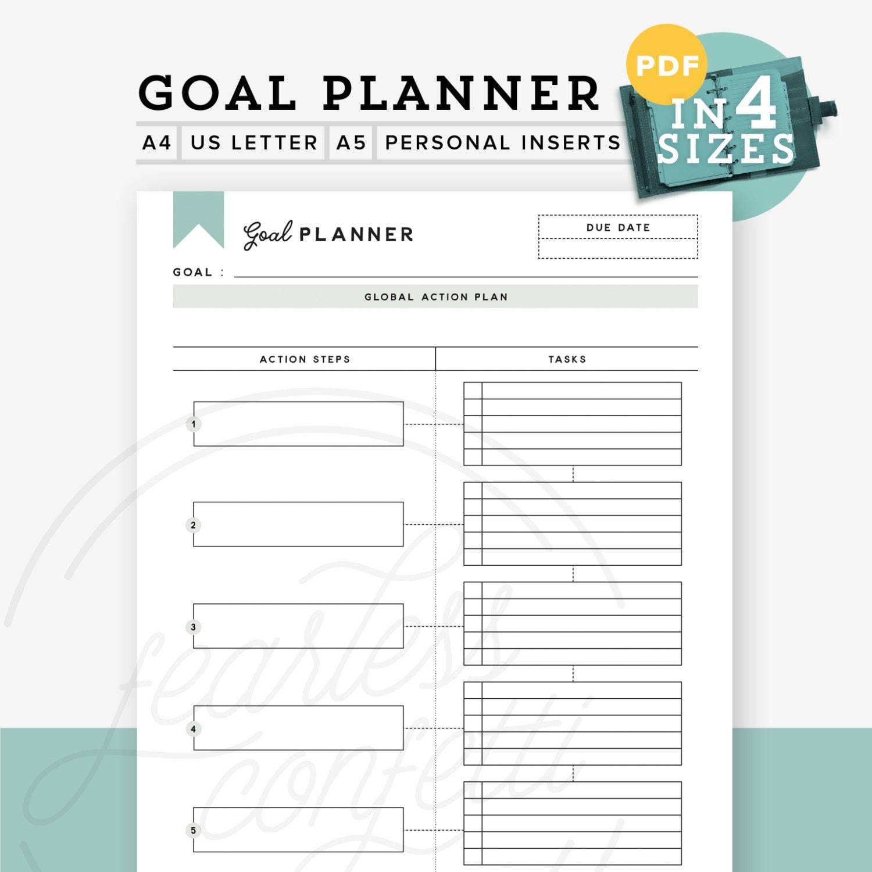 Printable Goal Planner Printable Goal Tracker Goal Planner – Goal Setting Worksheet for Kids
