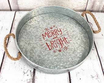 Merry & Bright Christmas Serving Tray