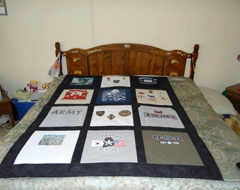 T shirt Memory Quilt with Your Military Tee Shirts