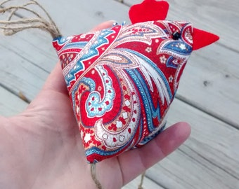Rooster Ornament/ Easter Ornament/ Christmas Ornament/ Spring Decor/ Easter Decoration/ Handmade