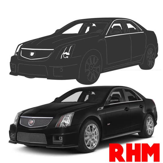 Cts Cadillac Sedan: Cadillac CTS Sedan 2012 Dxf Svg Files Plasma Cutting CNC Laser