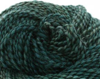 Middlefield Hand Dyed aran weight wool alpaca blend 200 yds 4oz Cypress