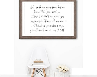 Digital - 20x30 - The Smile on Your Face, Wall Art Sign, Farmhouse, Wall Art, JPEG File, Instant Download - You Print