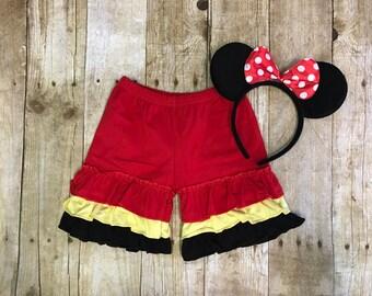 Ruffle shorts, Disney shorts, ruffle shorties