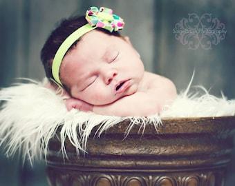 Kanzashi Flower Headband / Kanzashi Flower Elastic Headband / Elastic Headband / Newborn Headband / Baby Headband / Infant Headband