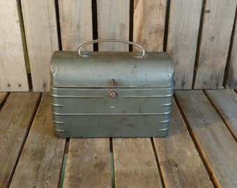 Antique Lunchbox, Antique Metal Lunch Box