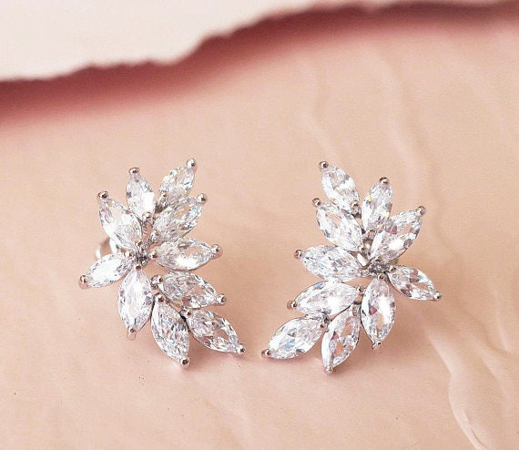Bridal earrings crystal wedding earrings swarovski bridal jewelry bridal earrings crystal wedding earrings swarovski bridal jewelry crystal drop earrings long chandelier earrings for bride aloadofball Image collections