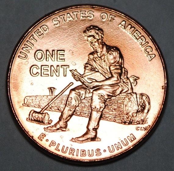 Rare Penny Bracelet Abraham Lincoln Sitting On Log 2009