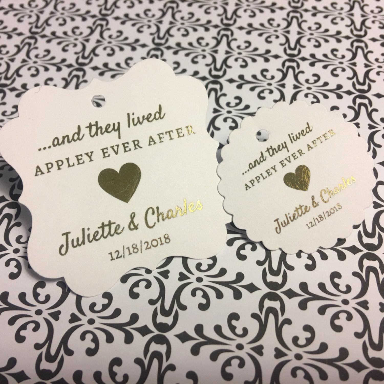 Wedding favor tags, favor tags, caramel apple favors, appley ever ...