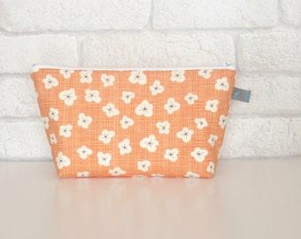 Peach Blossom Makeup Bag / Cosmetic Bag