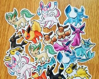 Eeveelution and Shiny Eeveelution Stickers