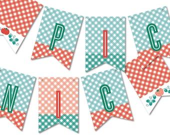 Farmer's Market Birthday Banner, Bunting Flags for Your Birthday Party Décor // FARMER'S MARKET